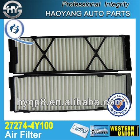 High performance engine auto parts for Japanese car Air Filter 27274-4Y100
