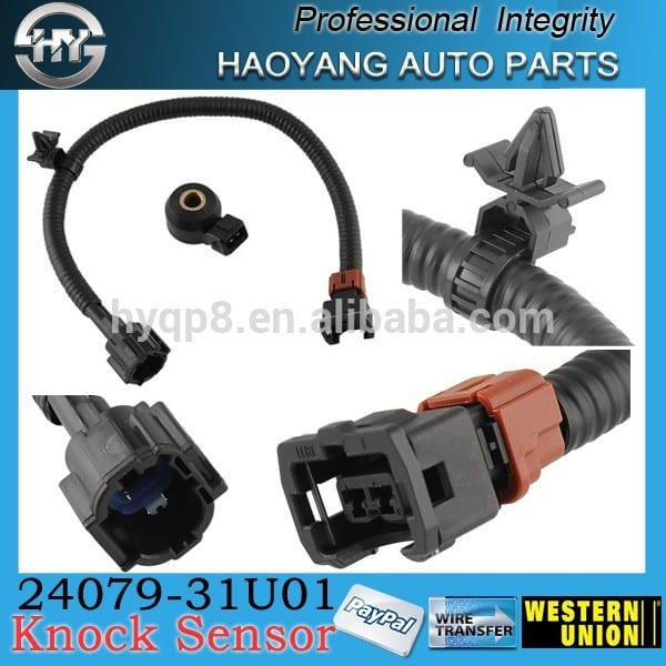 New hot New Knock Sensor +14 Wiring Harness for Japanese car 24079-31U01