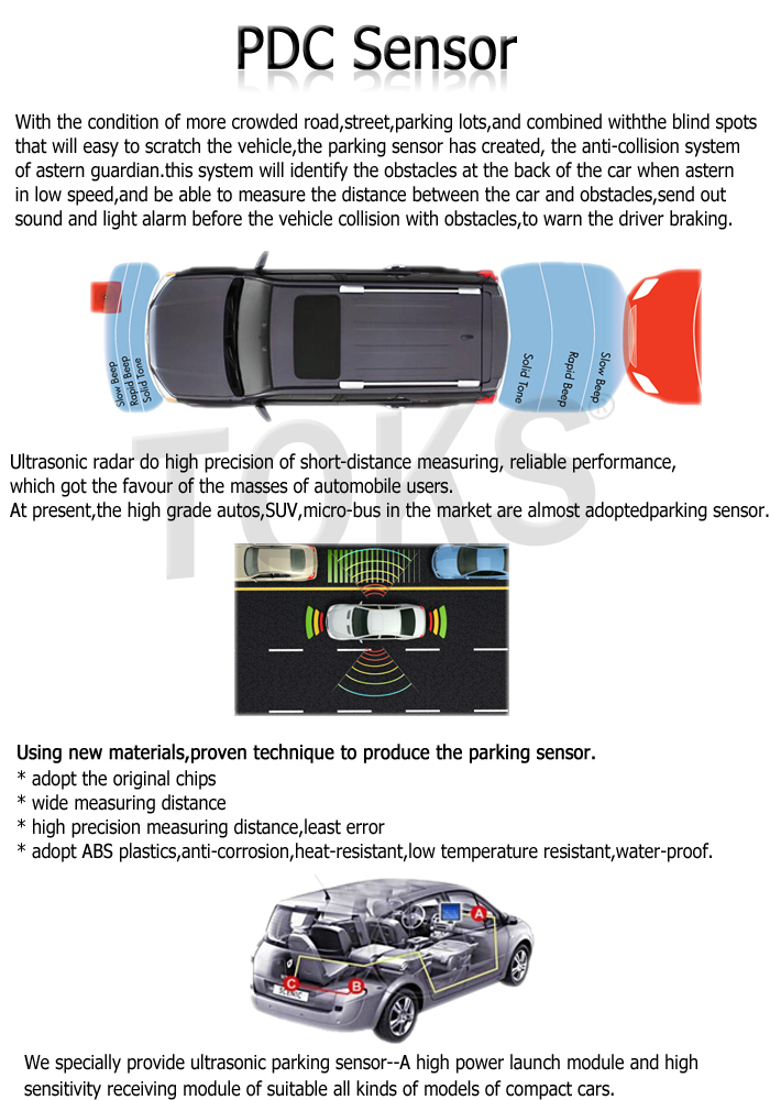 China Supplier Brand New Parking Sensor For American car OEM NO. 1EW63SZ0 13242365 0263003700