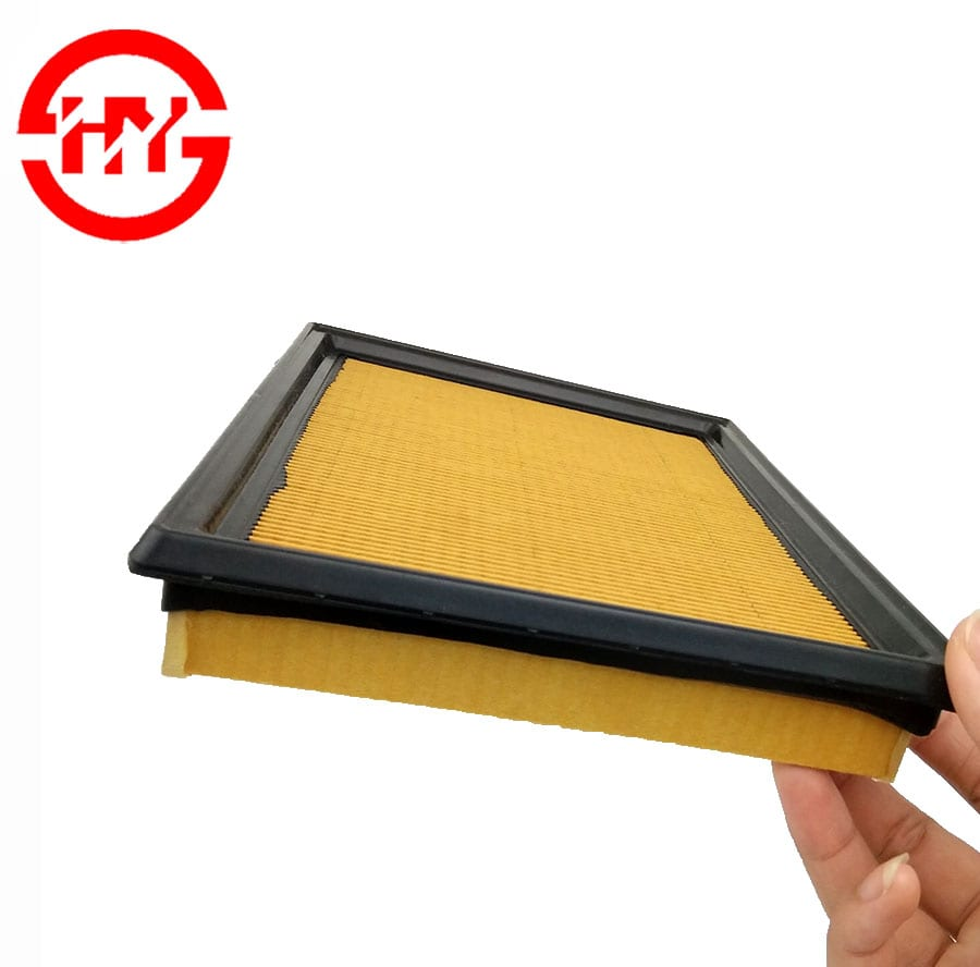 Factory price Auto filters 16546-JG30A Yellow paper air filter Made In China Featured Image