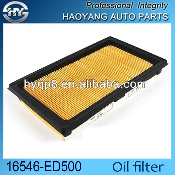 PU engine air filter for Japanese car 16546-ED500  16546-ed000  ELEMENT ASSY