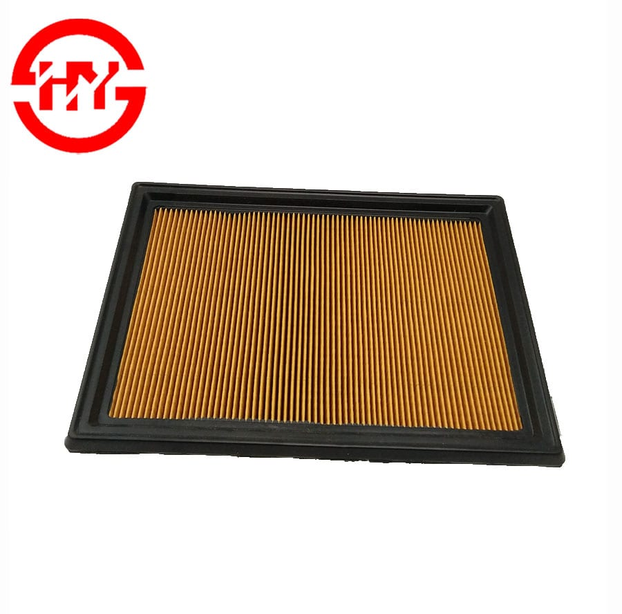 Factory price Auto filters 16546-JG30A Yellow paper air filter Made In China