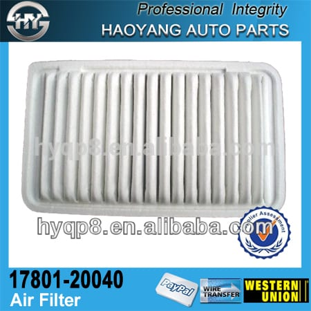 With more than 10 years manufacturing experience OEM 17801-20040 for Japanese car Faborable price auto clean filter ail filters