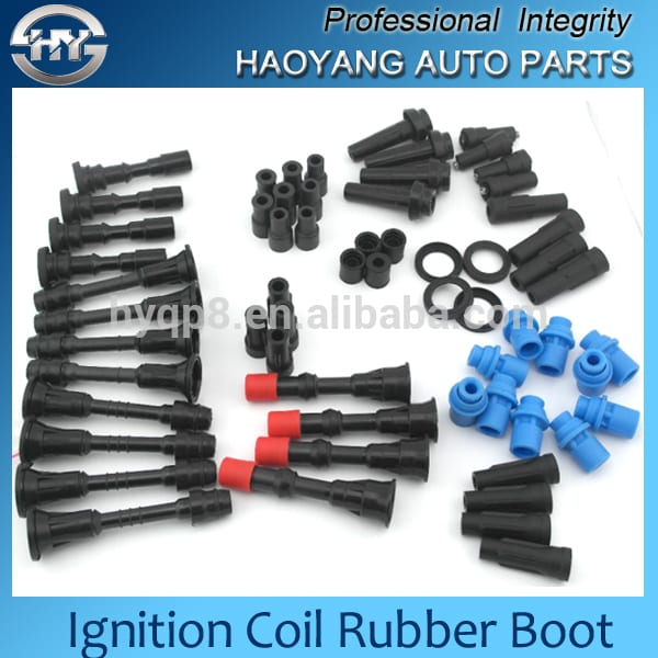 sparking igntion coil rubber boots for japanese,korean, european,american car